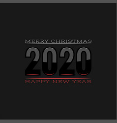 Logo 2020 with white and red reflections vector