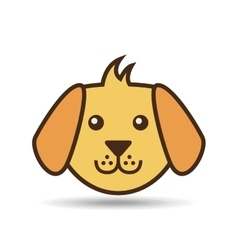 lovely face puppy dog vector image