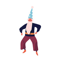 male character in wizard costume flat vector image