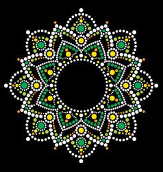 Mandala bohemian dot painting design vector