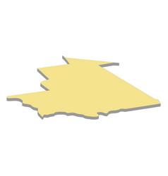 map mauritania vector image