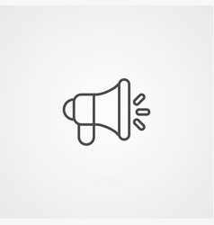 megaphone icon sign symbol vector image