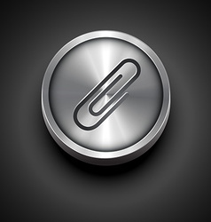 Metal icon vector