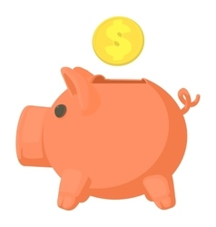 Money box icon cartoon style vector image vector image