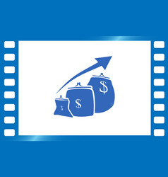 money purse growth vector image