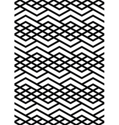 Monochrome geometric art seamless pattern mosaic vector