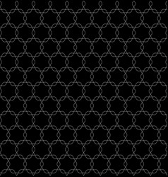 monochrome seamless pattern ornamental tracery vector image