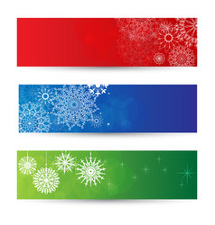 new year and xmas banner collection vector image
