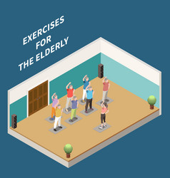 Nursing home isometric composition vector