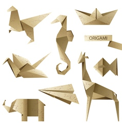old-fashioned origami set vector image
