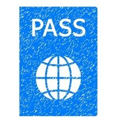 Passport Grainy Texture Icon vector