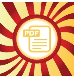 PDF file abstract icon vector