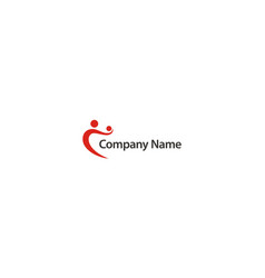 People connection care company logo vector