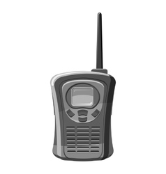 Portable handheld radio icon gray monochrome style vector