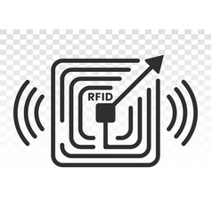 Radio frequency identification or rfid card vector