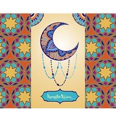 Ramadan Kareem card vector