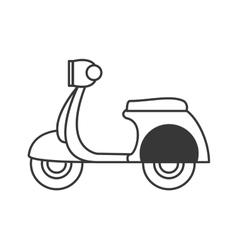 Retro scooter icon vector