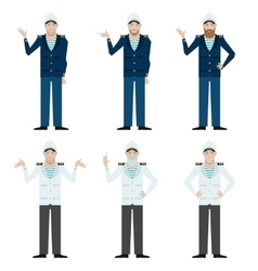 Set of Captains vector image