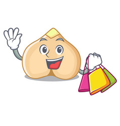 Shopping chickpeas character cartoon style vector