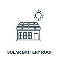 solar battery rooutline icon creative design vector image