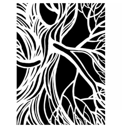 Stylized abstract tree vector image