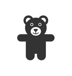 teddy bear plush toy icon business concept bear vector image