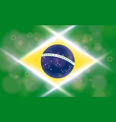 the national flag of brasil modern pattern vector image