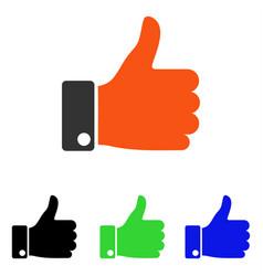 Thumb up flat icon vector