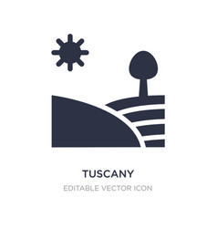 Tuscany icon on white background simple element vector