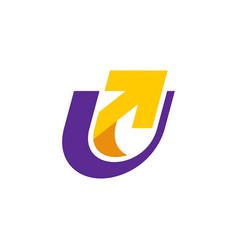 u letter logo vector image