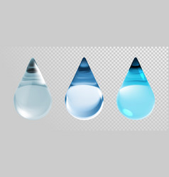 water drops isolated on transparent background 3d vector image