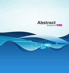 Abstract blue water background vector image vector image