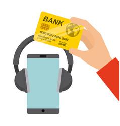 mobile music commerce online vector image