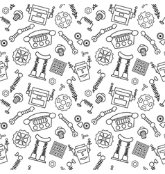 Smart robot parts and details background vector image vector image