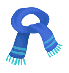 the blue scarfwinter warm wool scarf for the neck vector image vector image