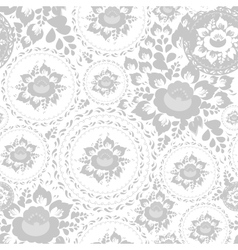 Vintage shabby Chic Seamless pattern with flowers vector image vector image