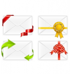 envelopes with bow vector image vector image