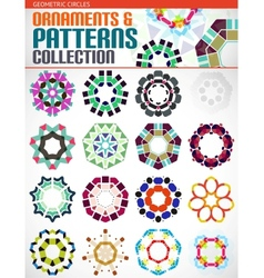 Geometric round shapes set for backgrounds vector image