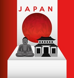 japan emblem vector image vector image