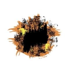 Orange black blot vector image