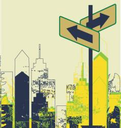 urban street scene vector image vector image