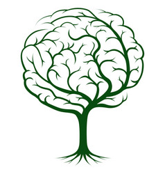 brain tree vector image vector image