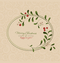 christmas card with a frame vector image