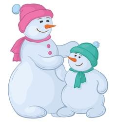 snowmen vector image vector image