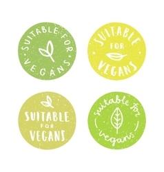 Suitable for vegans Set of vegan hand drawn vector image vector image
