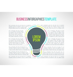 business infographic template with a lamp vector image vector image