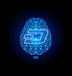 crypto currency zcash on brain background vector image