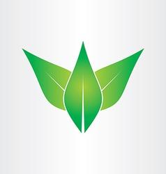 green leaves eco concept icon design vector image