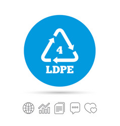 ld-pe 4 sign icon low-density polyethylene vector image