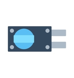 Lock icon isolated on white vector image vector image